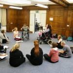 Delivering a workshop at Dance Syndrome